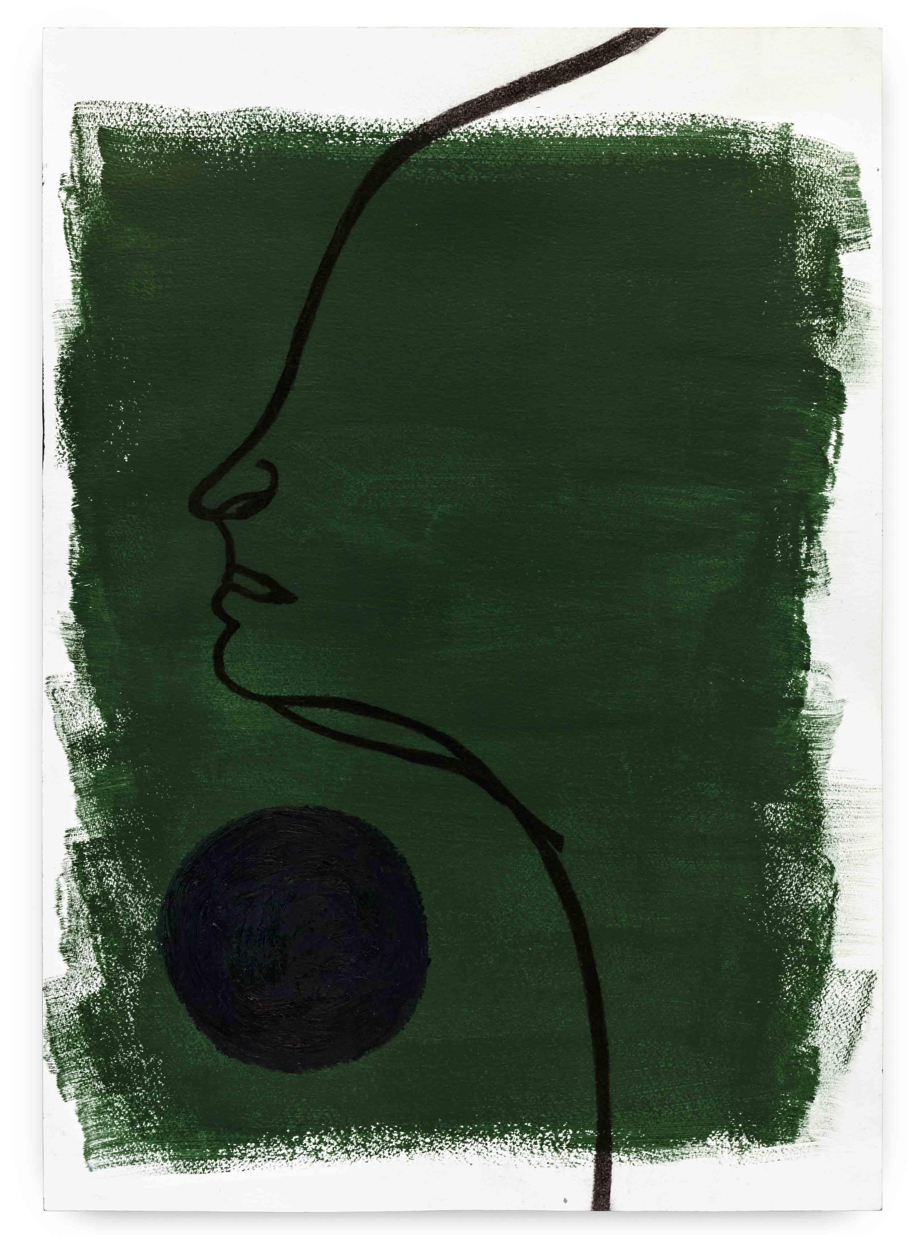 série: Seresbrasileiros seressureais Thania 2017 carvão e bastão a óleo sobre acrílica em papel 64,5 x 46,7 cm