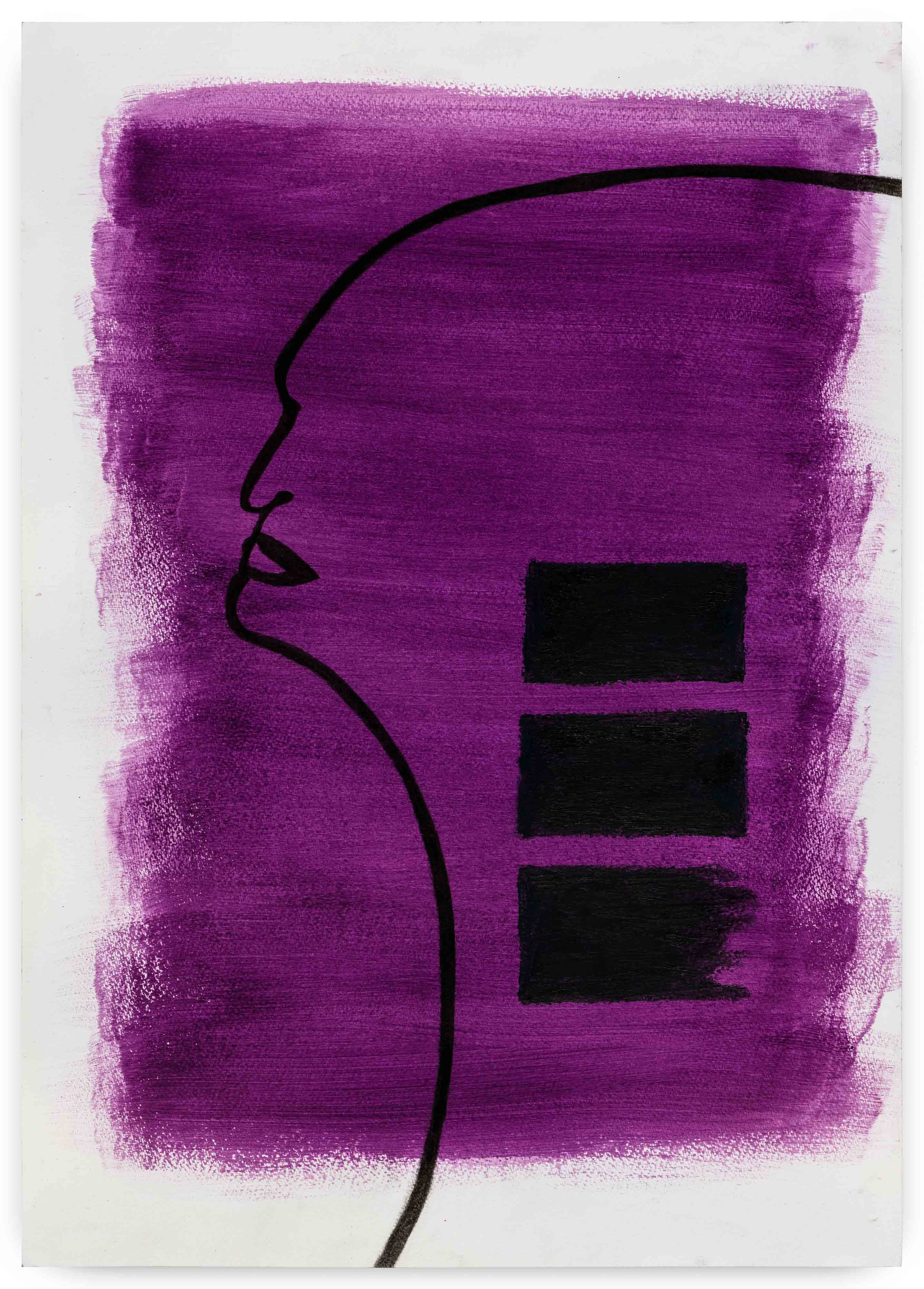 série: Seresbrasileiros seressureais Alessandra 2017 carvão e bastão a óleo sobre acrílica em papel 59,5 x 41,5 cm